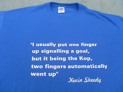 EVERTON KEVIN SHEEDY TWO FINGERS TO KOP T SHIRTS SWEATS BIRTHDAY GIFT