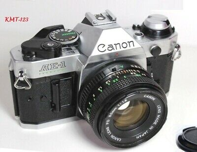 Canon AE-1 Program 35mm Film Manual Camera w 50mm F1-8 Lens Excellent Condition