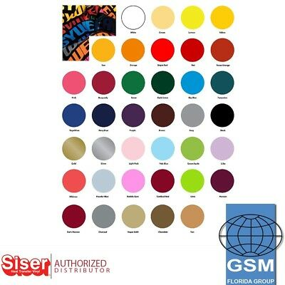 Siser Easyweed HTV Heat Transfer Vinyl 5 YARDS 38 COLORS NO FLUORESECENT