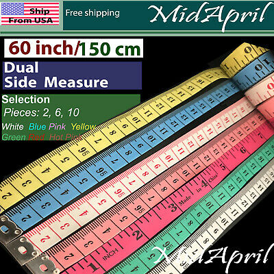 Body Measuring Ruler Sewing Cloth Tailor Tape Measure Soft Flat 60 150cm
