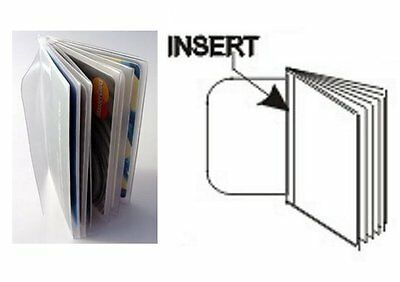 USA Quality 6 Page Vinyl Trifold Wallet Insert Pictures  Credit Card FAST SHIP
