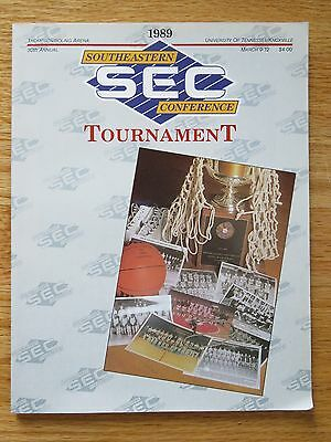 1989 Southeastern Conference SEC Tournament March 9-12 Program KENTUCKY WILDCATS