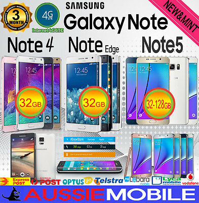 NEW - USED SAMSUNG GALAXY NOTE 5 NOTE 4 NOTE EDGE 32GB -64128GB LTE 4G UNLOCKED