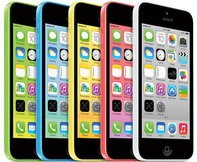 APPLE iPHONE 5C 8GB  16GB  32GB - Unlocked EE- Pink Blue White- Mobile Phone