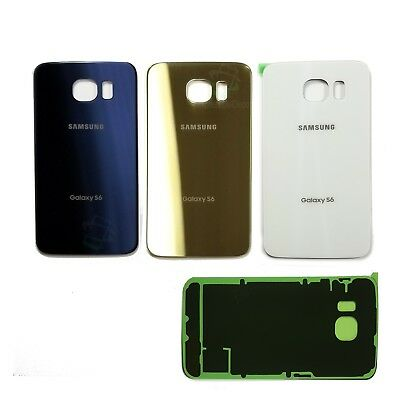 Samsung Galaxy S6 Replacement Back Glass Rear Cover w Adhesive Tape