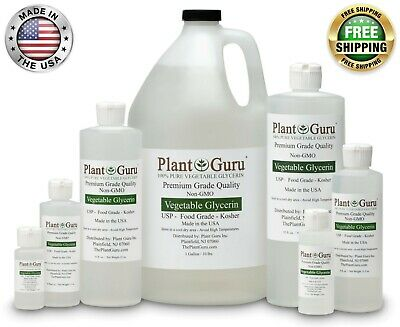 PURE VEGETABLE GLYCERIN FOOD GRADE NON-GMO LIQUID 1 oz up to 1 Gallon PG VG