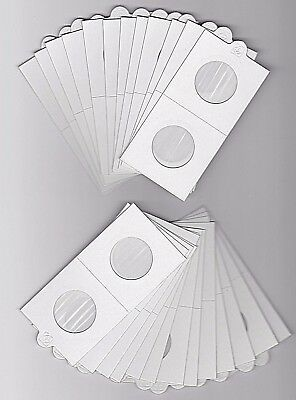 LIGHTHOUSE 27-5mm SELF ADHESIVE 2 x 2 COIN HOLDERS x 25 SUIT HALFPENNY1 DOLLAR