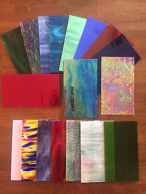 Stained Glass Sheet Variety Pack of 10- 7 X 4 Pieces of Premium Glass