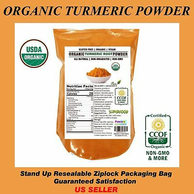 1 LB ORGANIC TUMERIC Root Powder 100 Pure Curcuma Longa TURMERICFree Ship