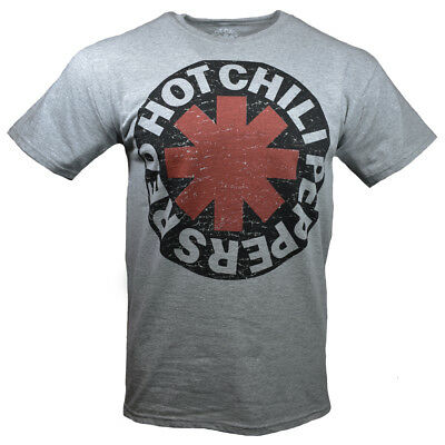 RED HOT CHILI PEPPERS T-shirt -RHCP - Vintage -Lollapalooza Gray w Black Logo