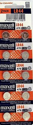 LR44 Maxell 10 piece LR44 MAXELL A76 L1154 AG13 357 New Alkaline Battery