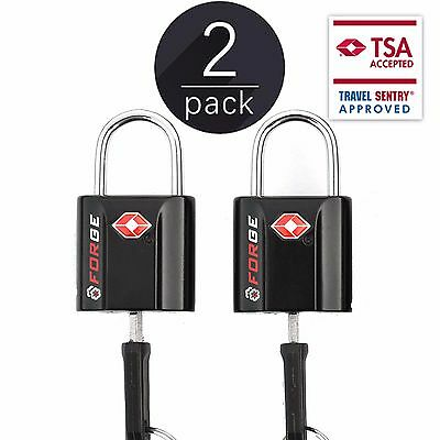 TSA Approved Luggage Locks Ultra-Secure Dimple Key Travel Locks 2 Pack
