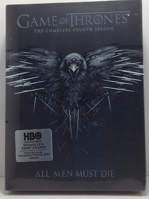 Game of Thrones The Complete Fourth Season 4 DVD 2015 4-Disc Set