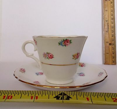 VINTAGE COLCLOUGH BONE CHINA Cup - Saucer Made in Longton England Roses