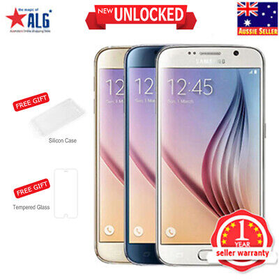 New Unlocked Samsung Galaxy S6 G920F LTE 4G Mobile 32GB 1Yr Wty in Sealed Box