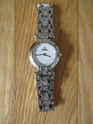 Womens FENDI stainless steel bracelet watch with silver hands