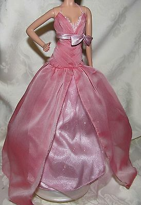 BARBIE MODEL MUSE 2008 PINK TULLE GOWN DRESS FASHION CLOTHING FOR DOLL