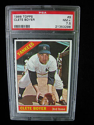 1966 TOPPS 9 CLETE BOYER NEW YORK YANKEES  PSA 7-5  NM-