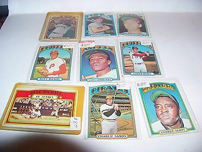 Lot of 9 1972 Topps EX - MT condition  Lot 5