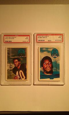 1970 Kelloggs Football PSA 9 Lot of 2 Sayers - Smith