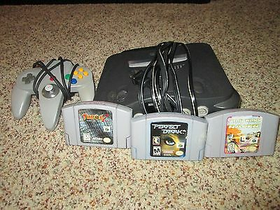 Nintendo 64 N64 Console Controller Jumper Pack Game Bundle  3 Games EXCELLENT