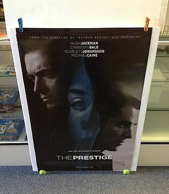 THE PRESTIGE Movie Poster 27x40 One Sheet Rare 2006 Double Sided