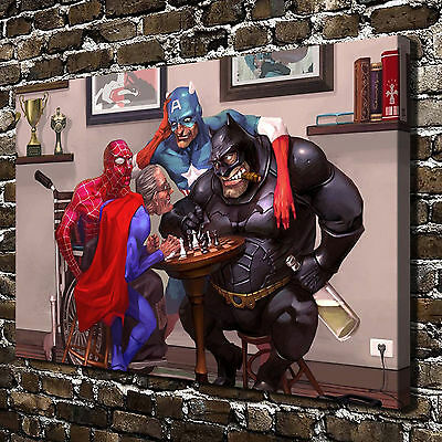 Oil Painting HD Print Wall Decor Art on Canvas Marvel DC 12x18inch Unframed