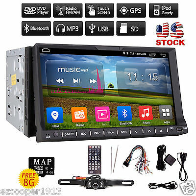 Double Din 7 Car DVD Player Dash Stereo Radio Ipod  Bluetooth USBSD-Camera