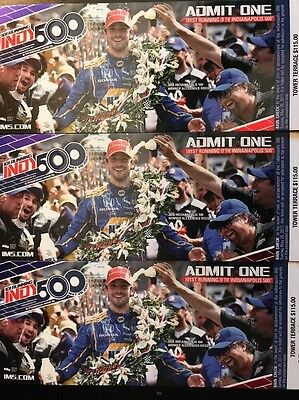 2017 3 Indianapolis 500 Tickets Tower Terrace South 115 Face Value