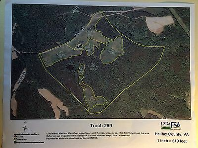 Large Tract of 198 Acres of Land In Northern Halifax County Virginia