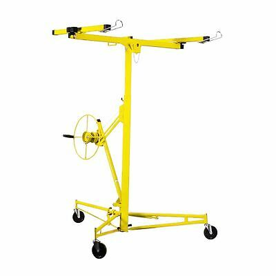 pro 11 Drywall Rolling Lifter Panel Hoist Jack Caster Construction Tool yellow