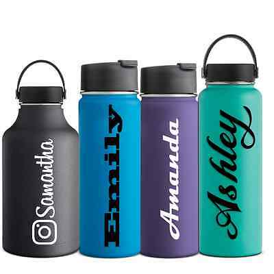 Name Decal Hydro Flask Water Bottle Sticker Hydroflask Camelbak Vinyl Decal