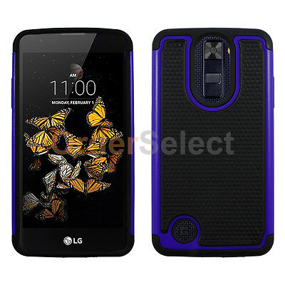 NEW Hybrid Rubber Hard Case for Android Phone LG Aristo LV3 K8 2017 Blue HOT