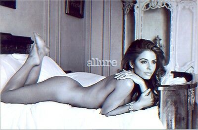 MARIA MENOUNOS - LYING ON A BED TOTALLY NUDE