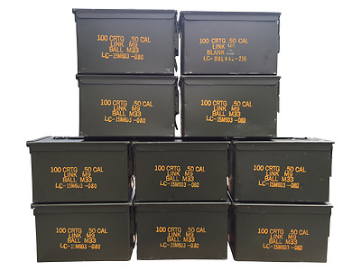 10 Pack 50 Cal ammo cans - Grade 1
