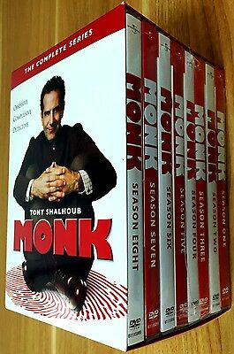 Monk The Complete Series Seasons 1-8  DVD 2016 32-Disc Set BRAND NEW