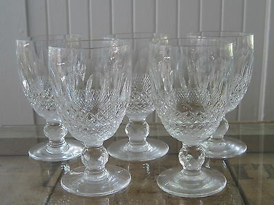 5 Waterford Cut Crystal Colleen 4 34 Wine Goblets Glasses