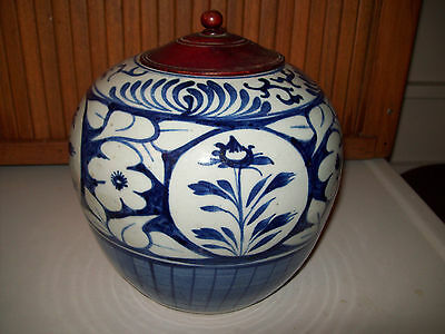 Antique Chinese blue and white porcelain Ginger Jar  19th Century 8
