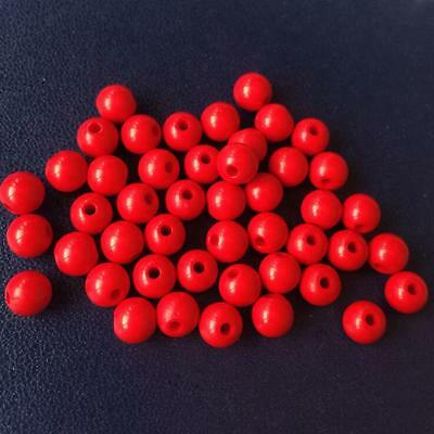 6mm Red Acrylic Solid Bubblegum Beads Lot 100pcs gumball Accessories New 108