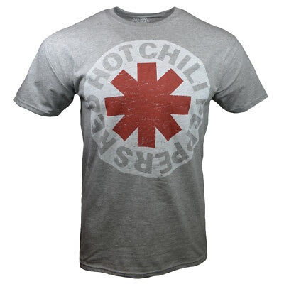 RED HOT CHILI PEPPERS T-shirt -RHCP - Vintage -Lollapalooza Gray w White Logo
