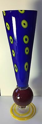 Studio art glass vase 19 12 tall possibly by Pizzichilo