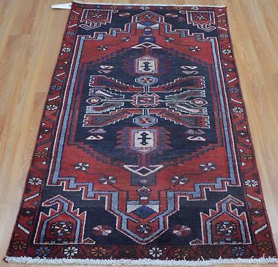 27x46 Amazing Genuine S Antique Persian Tribal Touserkan Hand Knotted Wool Rug