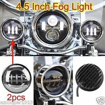 2X 4-5 30W LED Fog Light Offroad Driving Lamp for Motorcycle Harley Davidson