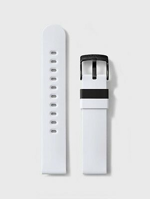 b-nd Hadley Roma - MODE Silicone 22mm Watch Band – White BND300 WHT 22R 22mm