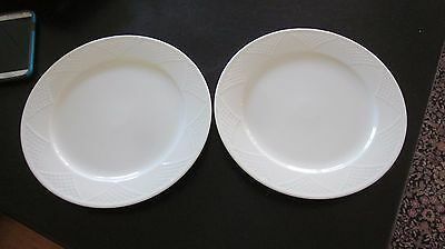 Two 2 Mikasa 11 Dinner Plates Rialto M2492 Continental Collection