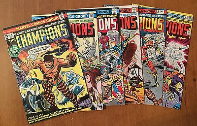 The Champions run 1 2 3 4 5 6 - First Issue - 1975