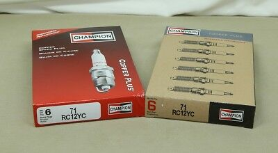 6 PK Champion RC12YC Spark Plug Copper Plus 71 FREE SAME DAY SHIPPINGSEE DETAIL