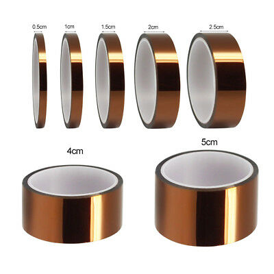 5 10 20 30 50MM X 33M HIGH TEMPERATURE HEAT RESISTANT INSULATION TAPE POLYIMIDE