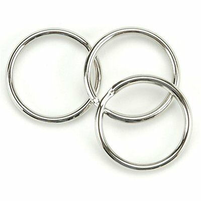 WHOLESALE 1005001000 25mm 1 inch Diameter Split Nickel Plated Key Rings US