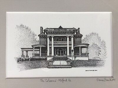 The Columns Pike County Pa- Bruce Frank Signed Original Lithograph Art